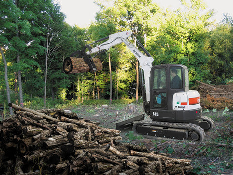 Bobcat E45 with thumb attach