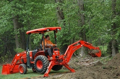 Kubota Backhoe with Thumb Attachment