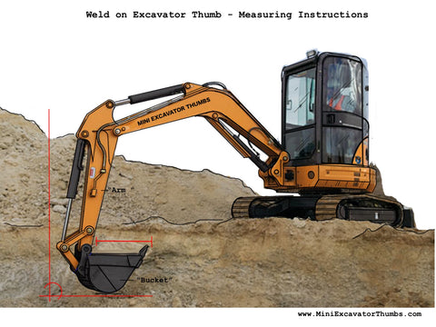 Excavator Thumb Measuring Instructions
