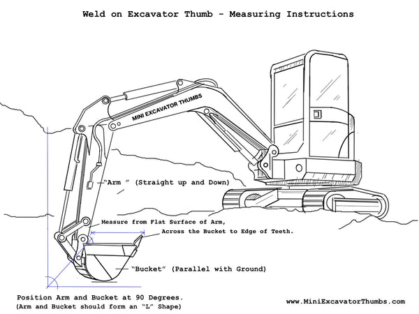 how to measure your excavator for a thumb attachment  u2013