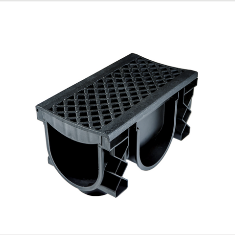 QualiDrain External Channel Drain Black