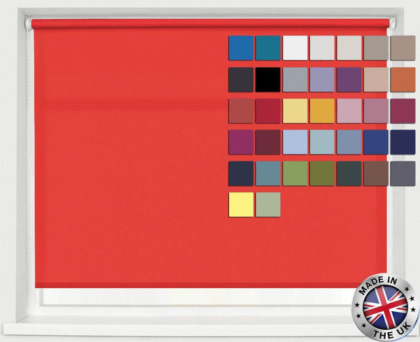 MADE TO MEASURE STRAIGHT EDGE ROLLER BLINDS, AVAILABLE IN 37 COLOURS