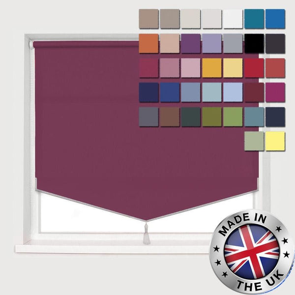 MADE TO MEASURE PYRAMID EDGE ROLLER BLINDS, AVAILABLE IN 37 COLOURS
