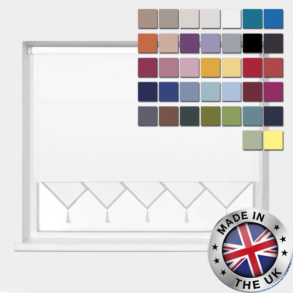 MADE TO MEASURE TRIANGLE EDGE ROLLER BLINDS, AVAILABLE IN 37 COLOURS
