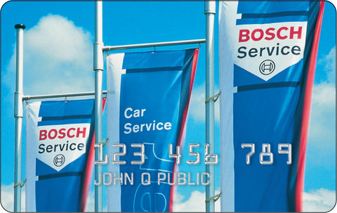 BOSCH credit card makes completing the job that much easier