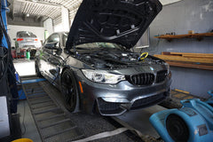 BMW M4 on the dyno