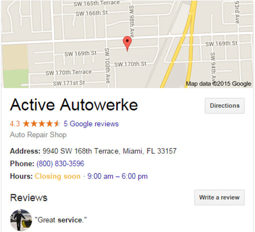 how to review active autowerke on google