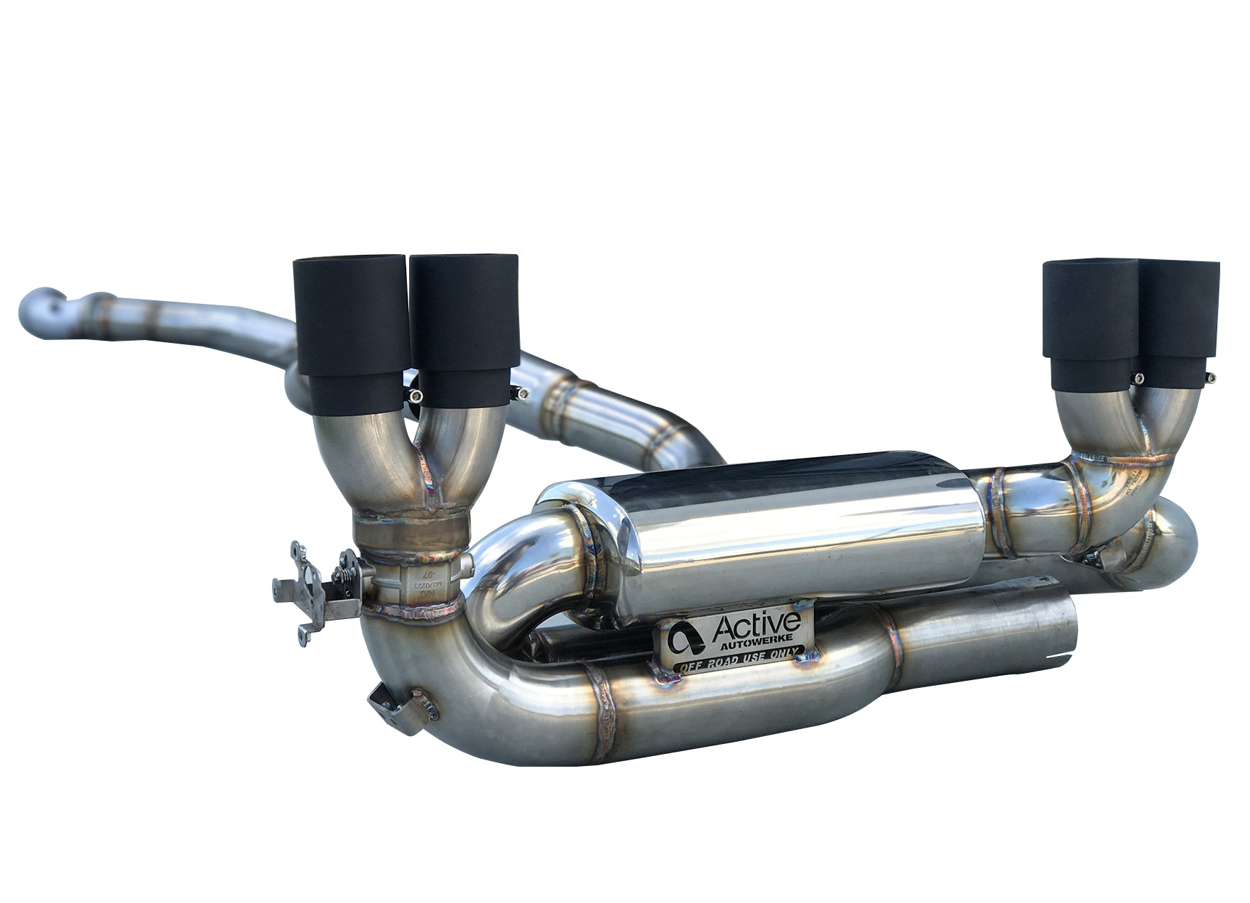 F87 M2 Competition Signature Exhaust System includes Active F-brace