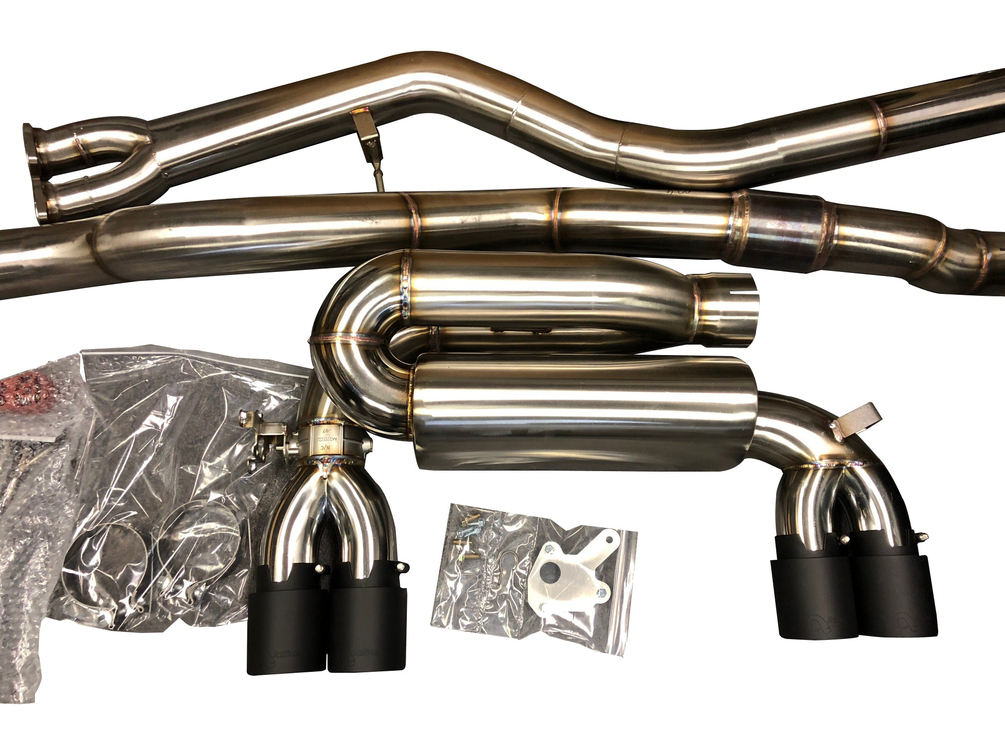 Active Autowerke F8X M3 M4 Signature Exhaust System includes Active F-brace