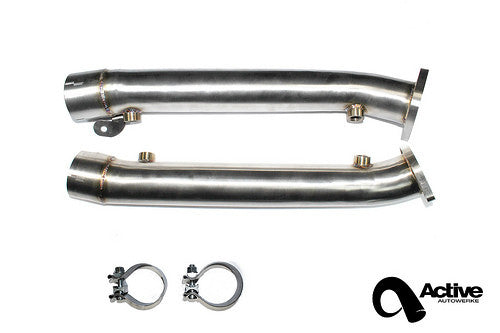 BMW E9x M3 V8 exhaust test pipe