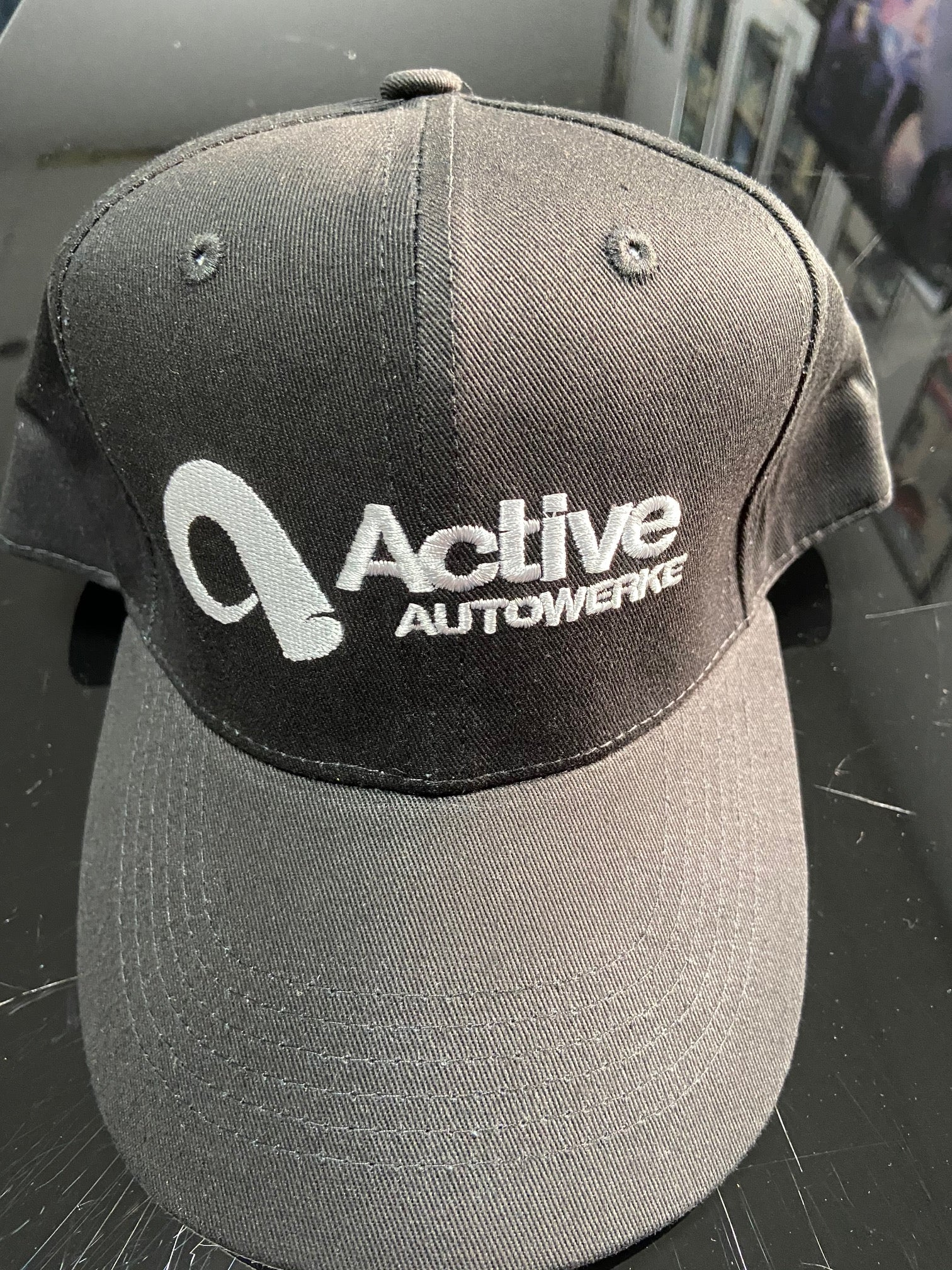 Active Autowerke 6-Panel Black Snapback Hat