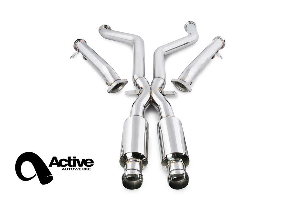 Active Autowerke E9X M3 Signature X Pipe w/ Straight Pipes (Race)