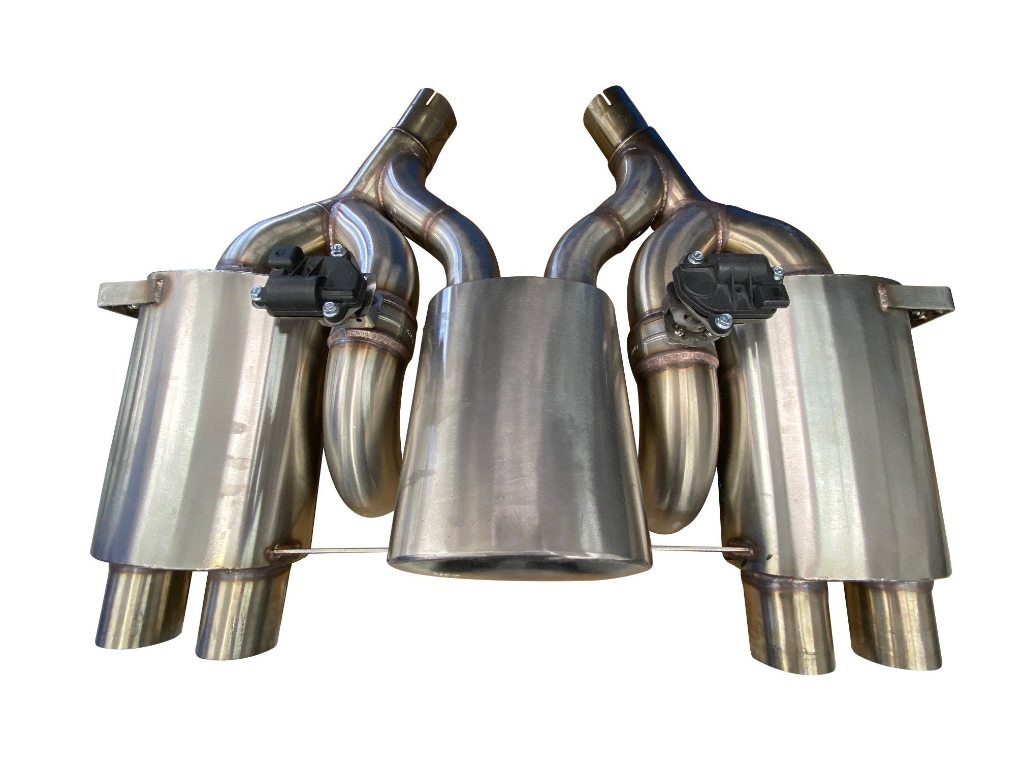 Maad Maxx - F8X BMW M3 & M4 Rear Exhaust Section - 3 Can Valved