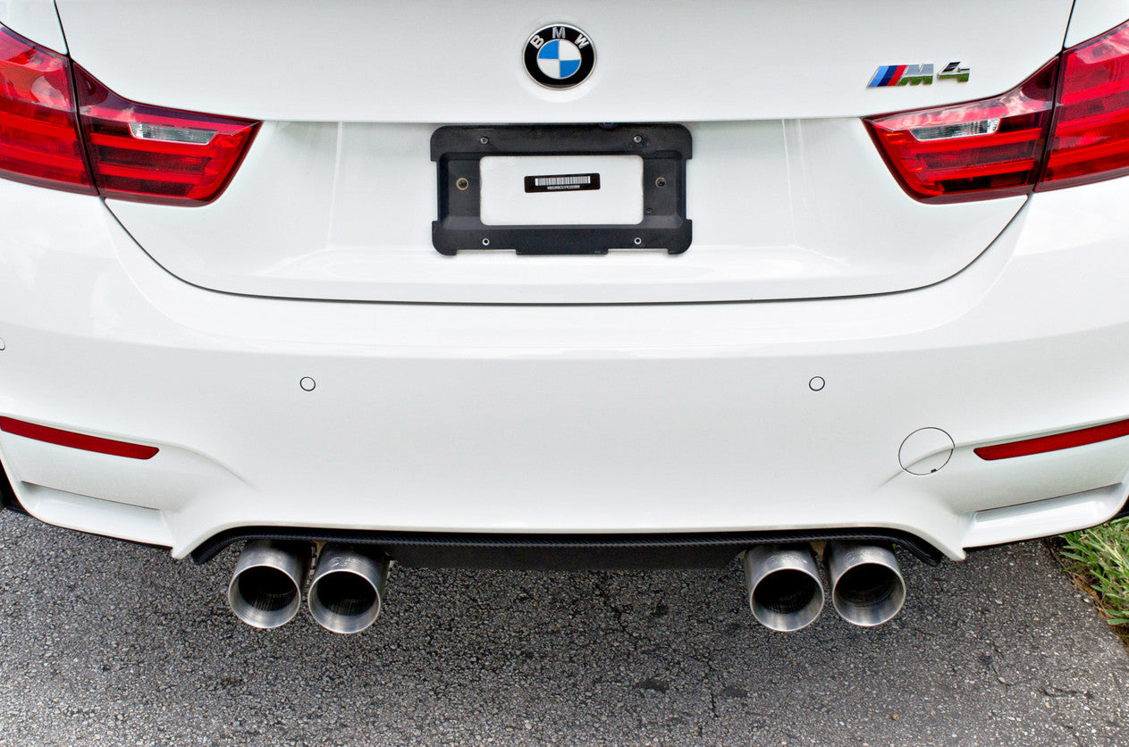 bmw m4 with active autowerke exhaust tips