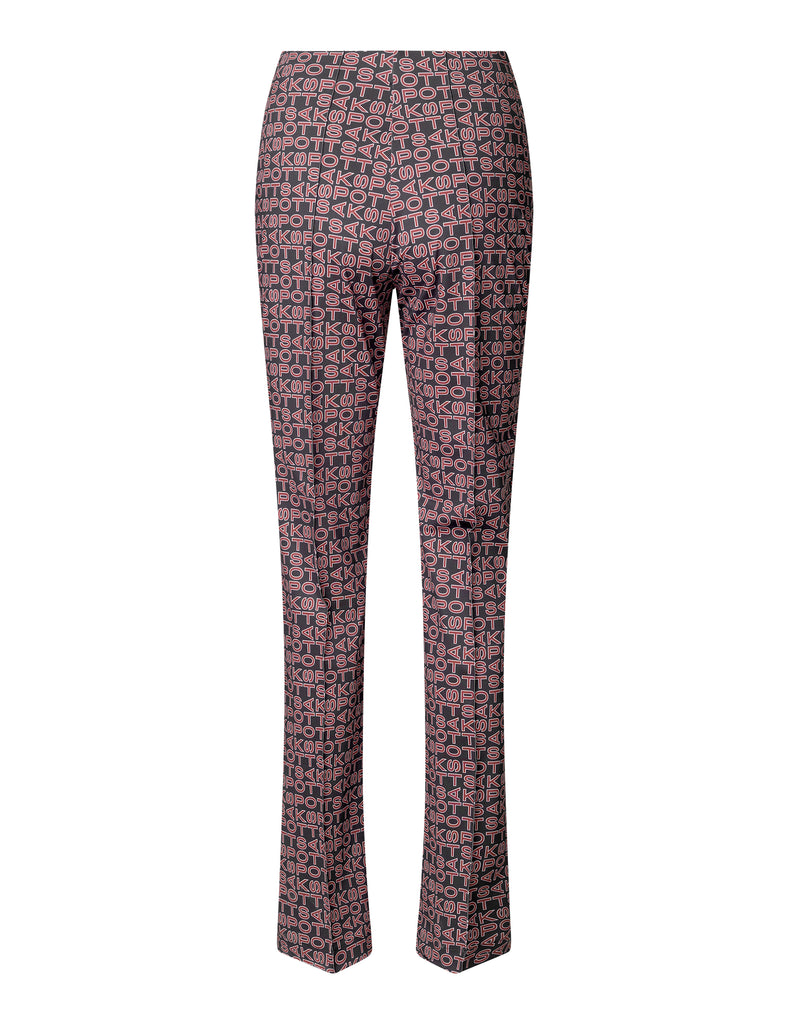 Lissi Pants — Techno Red/Black Print