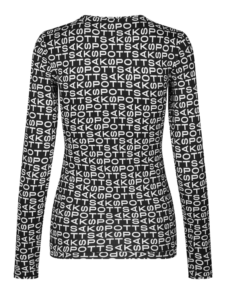 Saya Blouse — Techno Black/White Print