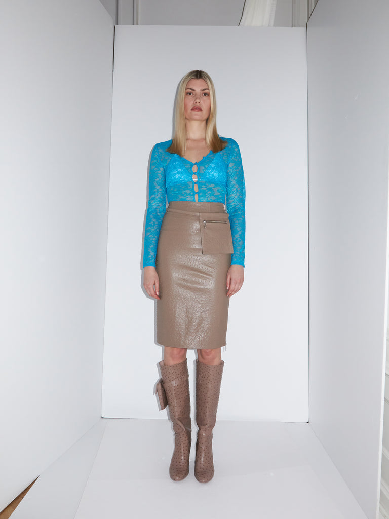 Billy Mocha Skirt