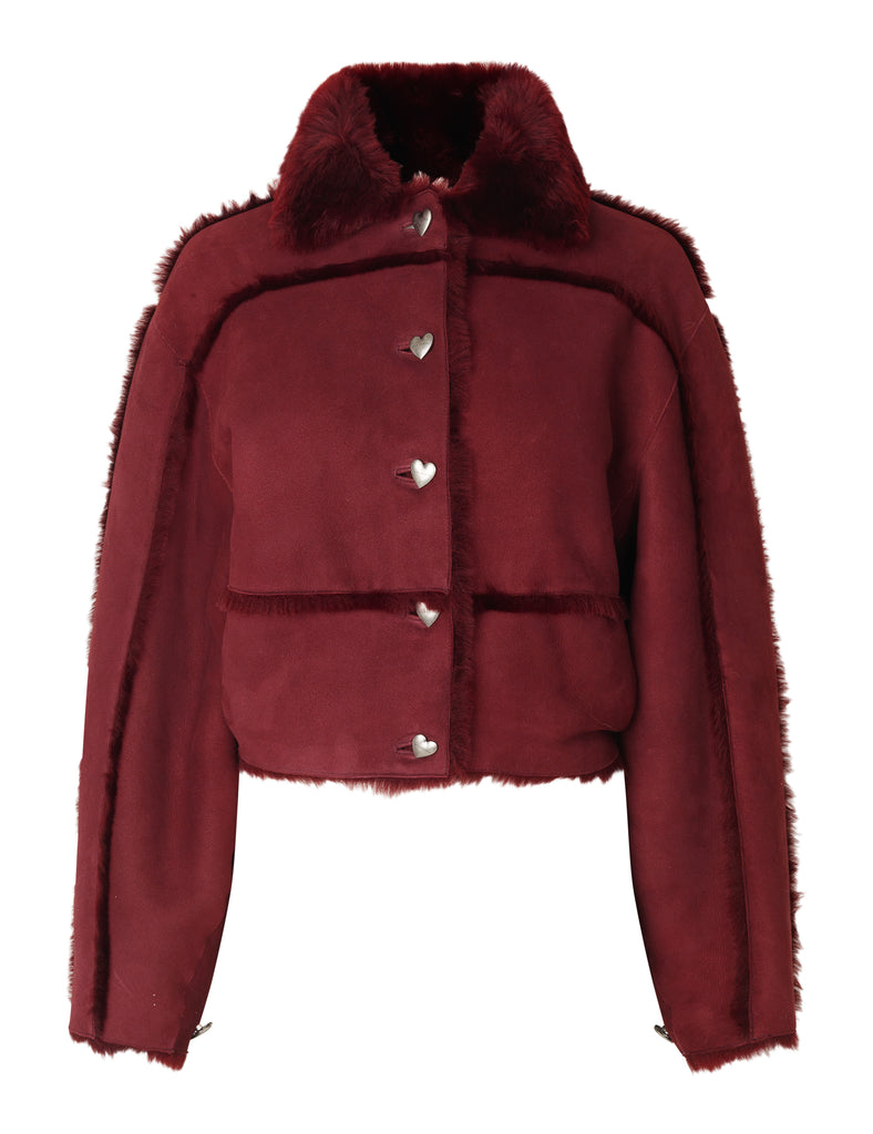 Kahlo Jacket — Burgundy