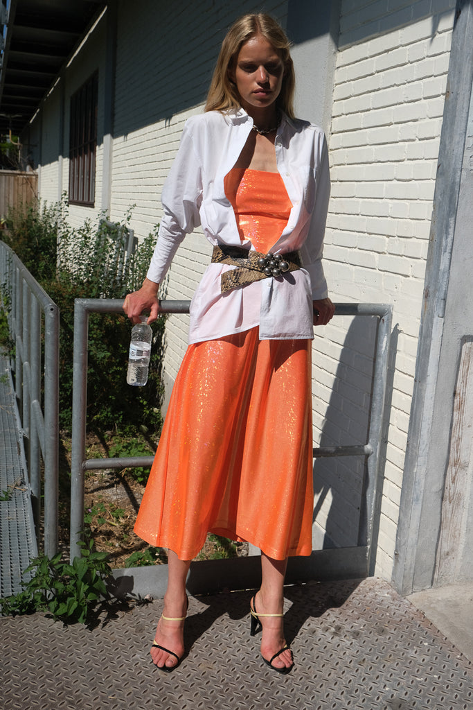 Jepska Dress — Orange Shimmer