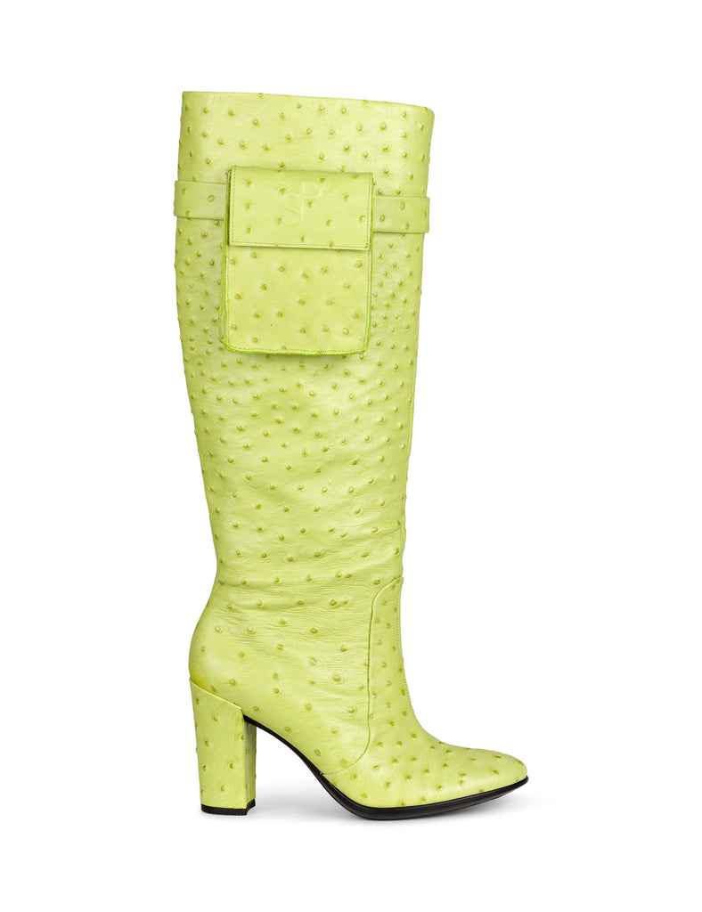 High Boot — Lime Green