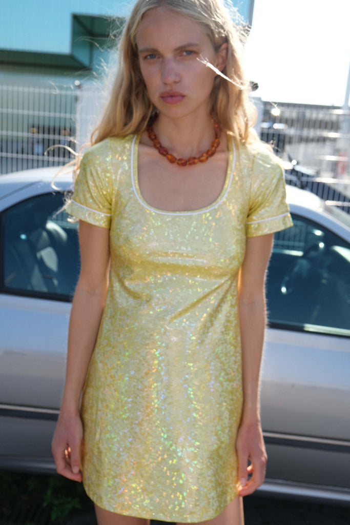 BEATE DRESS — Citrus Shimmer