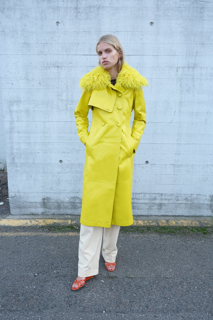 LIV SHEARLING COAT — Citrus