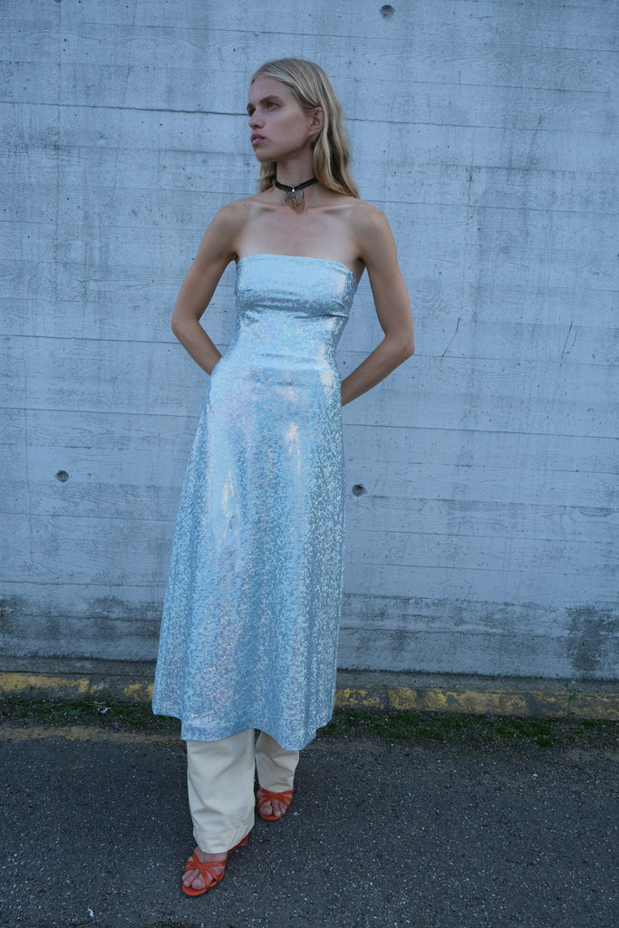 JEPSKA DRESS — Baby Blue Shimmer