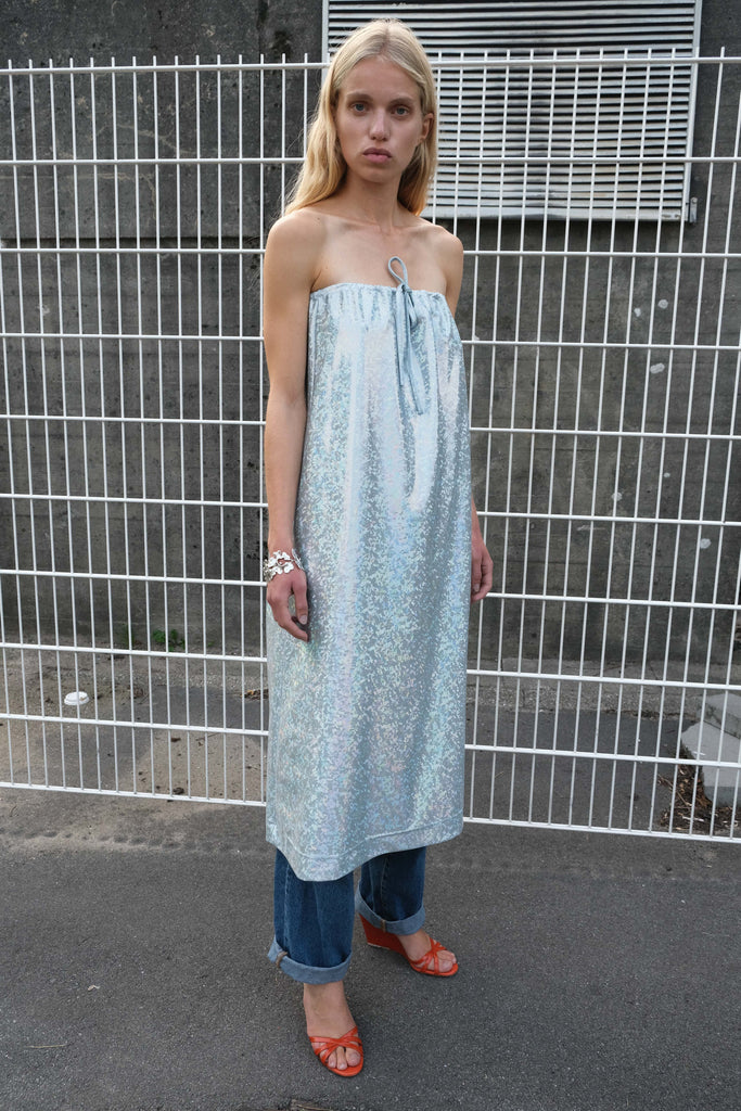FNULD DRESS — Baby Blue Shimmer