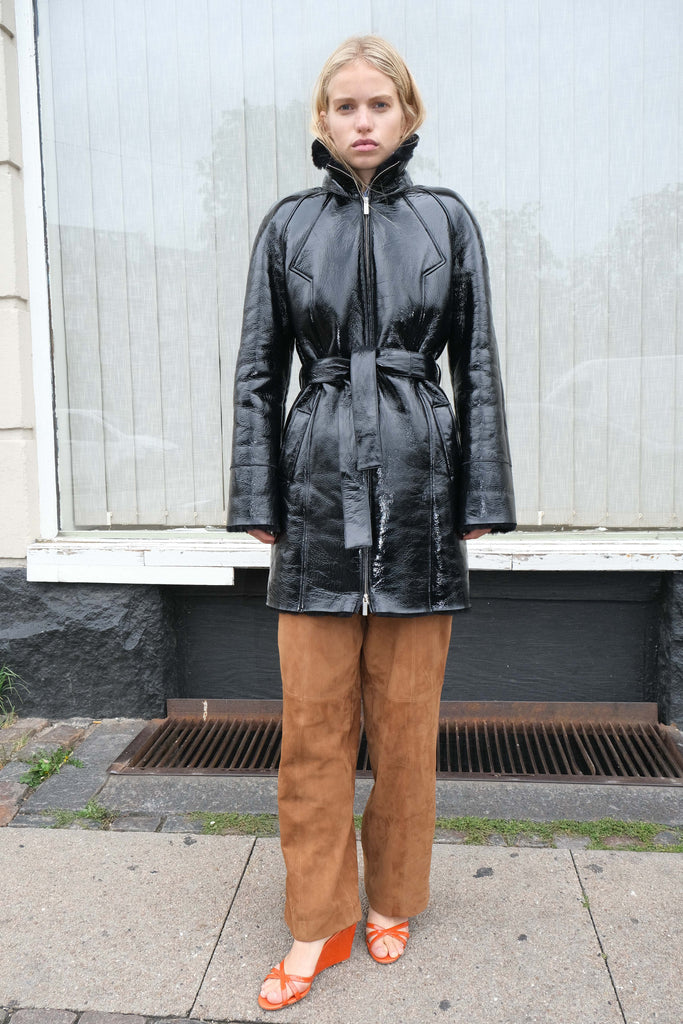 Fusun Coat — Black Lacquer