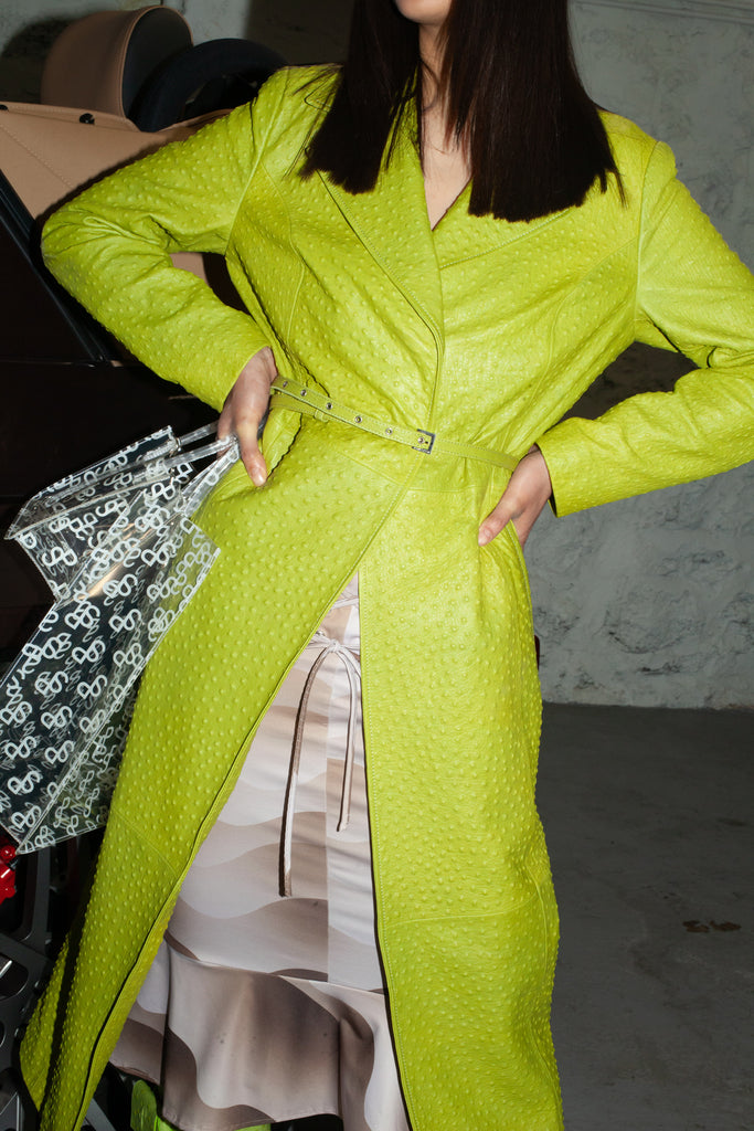 Metal Lime Green Coat