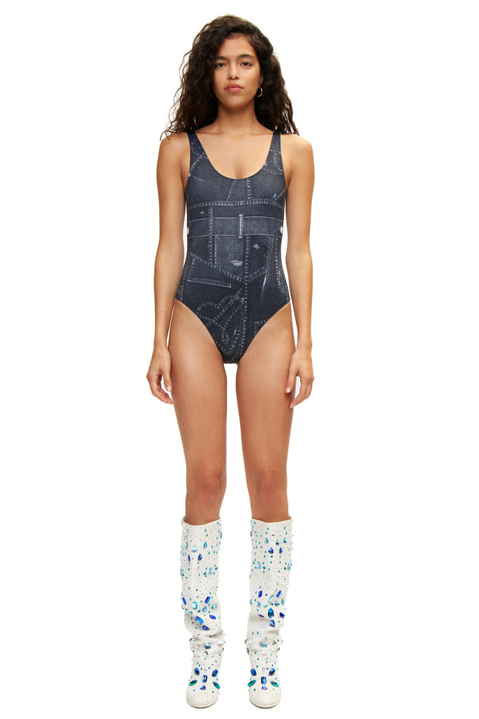 Frio swimsuit — Denim Print