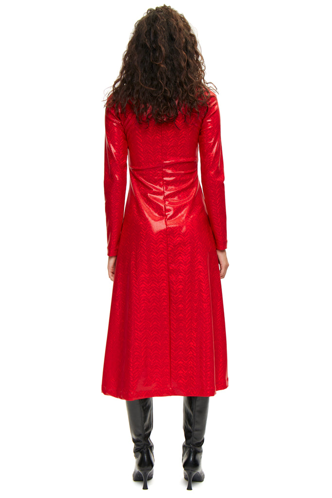 Yasmin Red Shimmer Dress