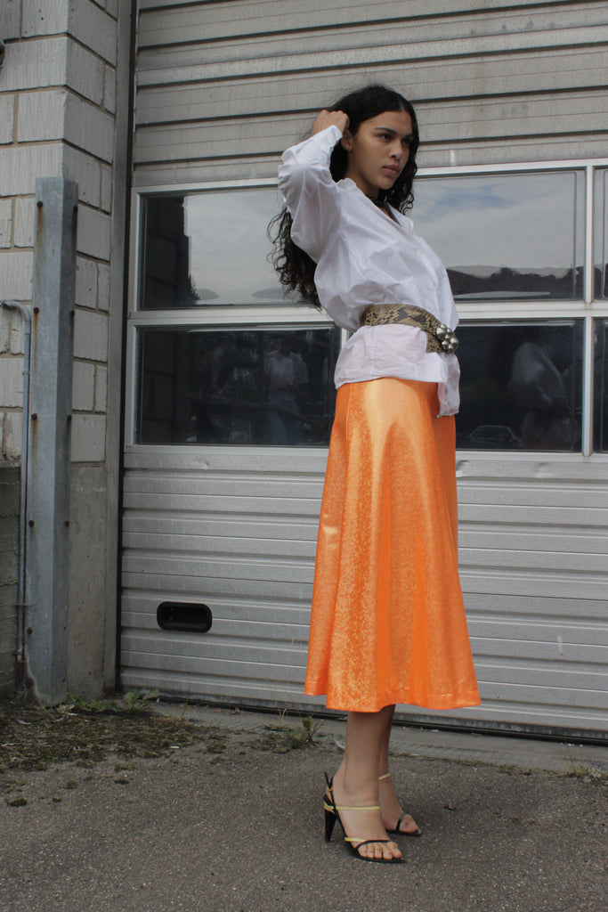 Cobra Skirt — Orange Shimmer