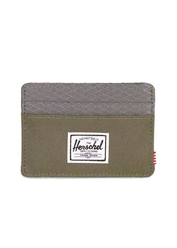 fcdfb5491ae Herschel Supply Co Charlie Wallet in Dark Green + Pearl