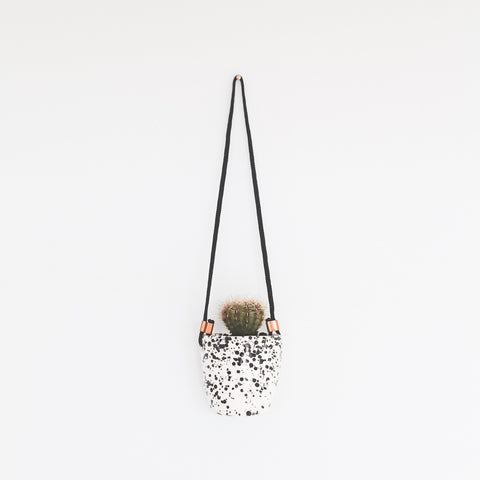 Splatter Planter | White with Black