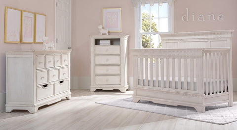 Tivoli - Antique White - 6-Piece Nursery Furniture Set Delta Children