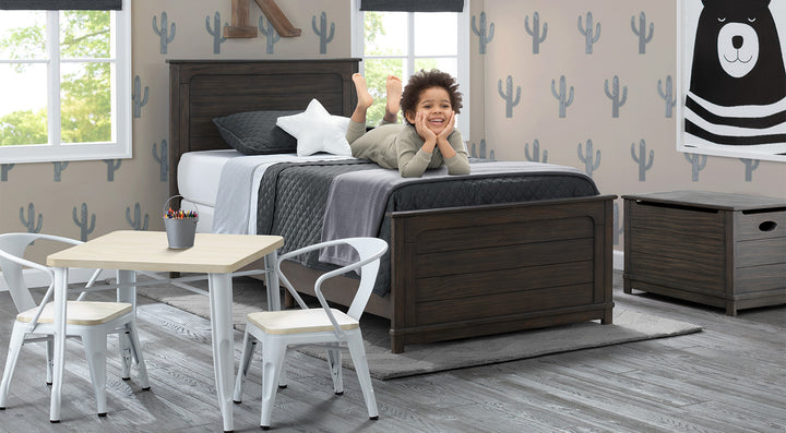 Jackson Kids Bedroom Set in Rustic Grey with Table and ...