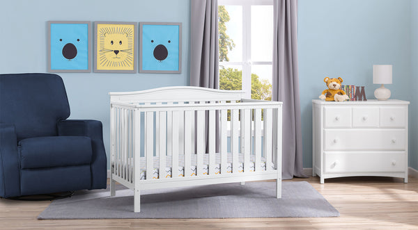 Independence in Bianca White 6-piece Nursery Furniture Set
