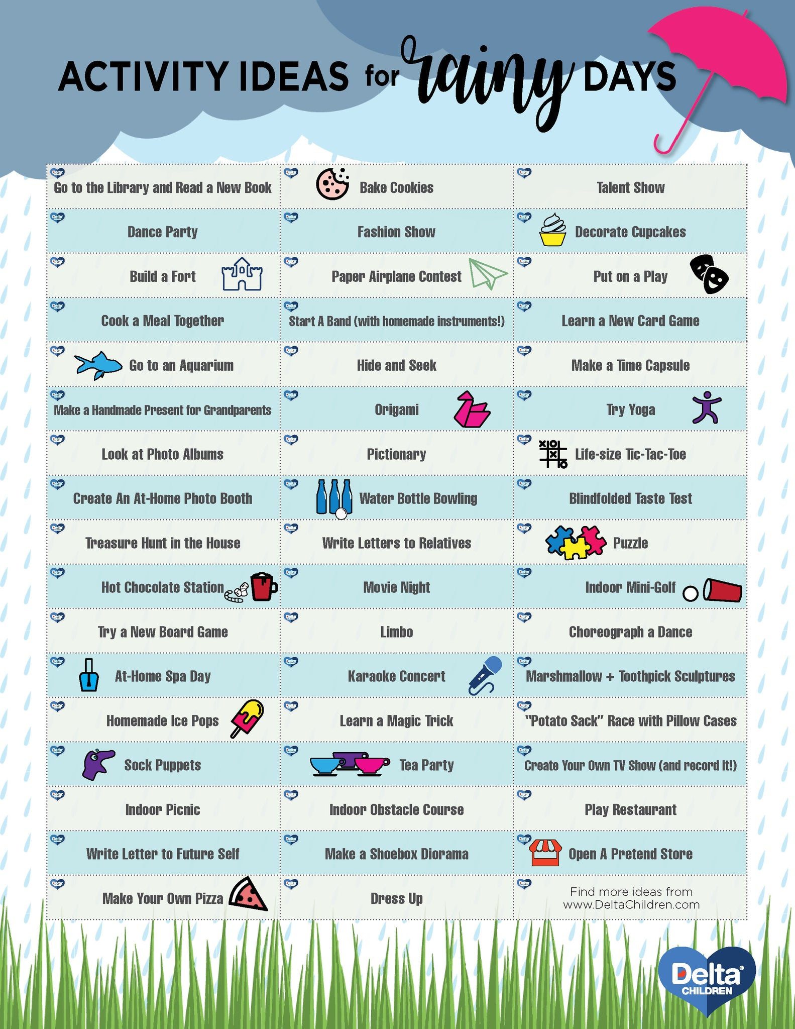 50 Rainy Day Activities For Kids Delta Children