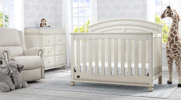 Ainsworth - Antique White - 6-Piece Nursery Furniture Set Delta Children