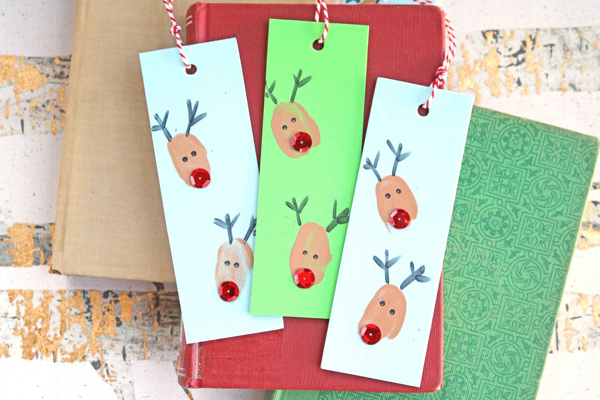 raindeer bookmarks