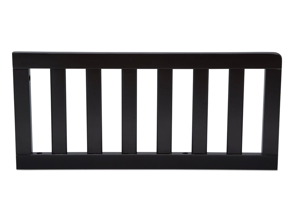 Delta Children Ebony (0011) Toddler Guardrail (0080), Front View a1a for New Haven 4-in-1 Convertible Crib