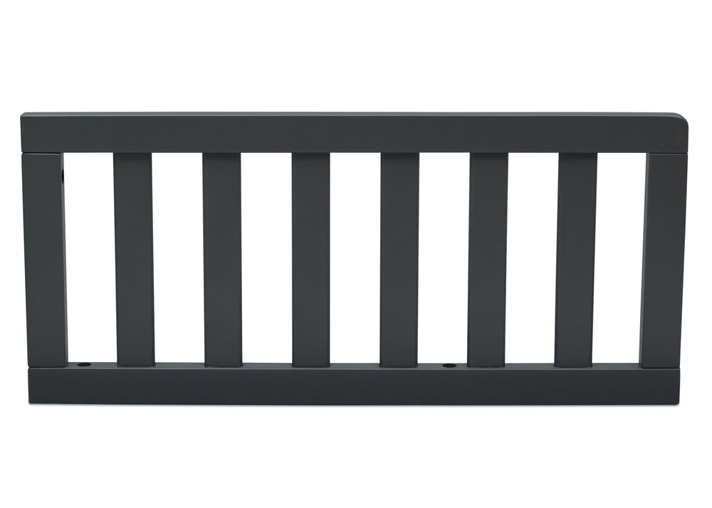 Delta Children Charcoal (029) Toddler Guardrail (0080), Front View e1e