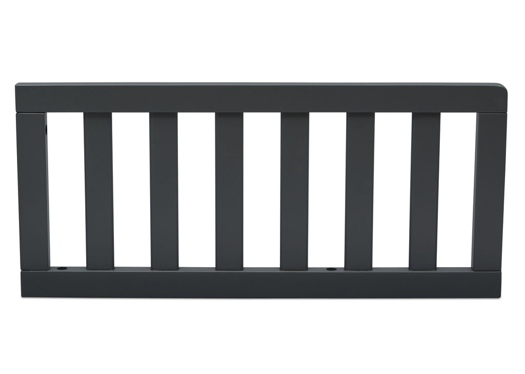 Delta Children Charcoal (029) Toddler Guardrail (0080), Front View e1e for New Haven 4-in-1 Convertible Crib