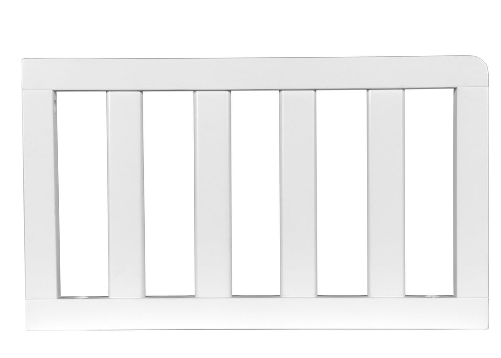 Simmons Kids White (100) Toddler Guardrail (0080) h1h for Geneva 4-in-1 Crib