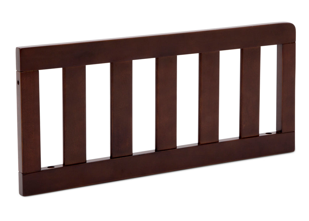 Delta Children Walnut Espresso (1324) Toddler Guardrail (0094), Right Silo View