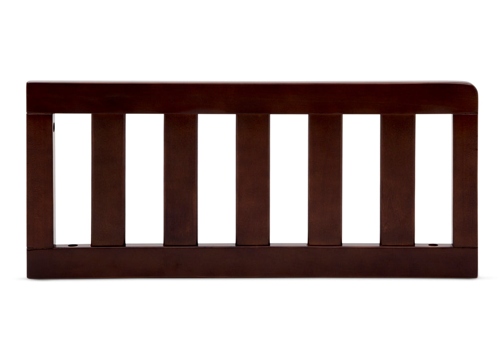 Delta Children Walnut Espresso (1324) Toddler Guardrail (0094), Front Silo View