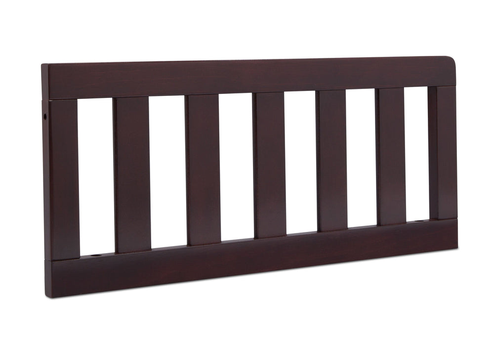 Delta Children Dark Chocolate (207) Toddler Guardrail (0094), Angled View f2f