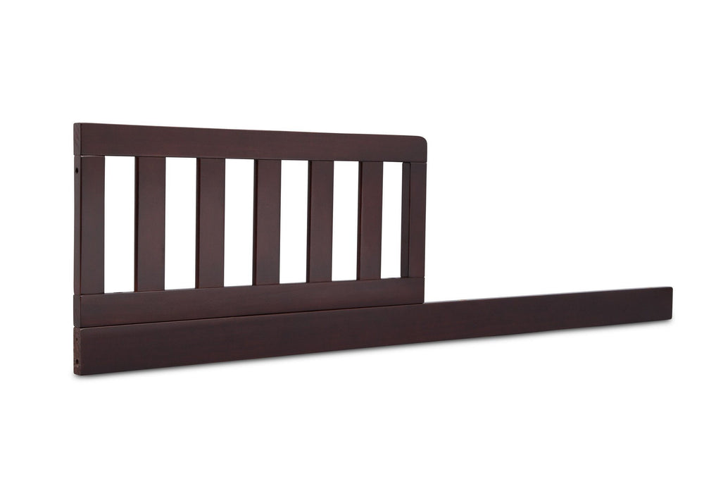 Delta Children Dark Chocolate (207) Daybed Rail & Toddler Guardrail Kit, Angled View b1b