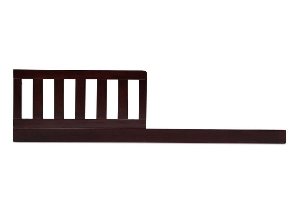Delta Children Dark Chocolate (207) Daybed Rail & Toddler Guardrail Kit, Front View b2b
